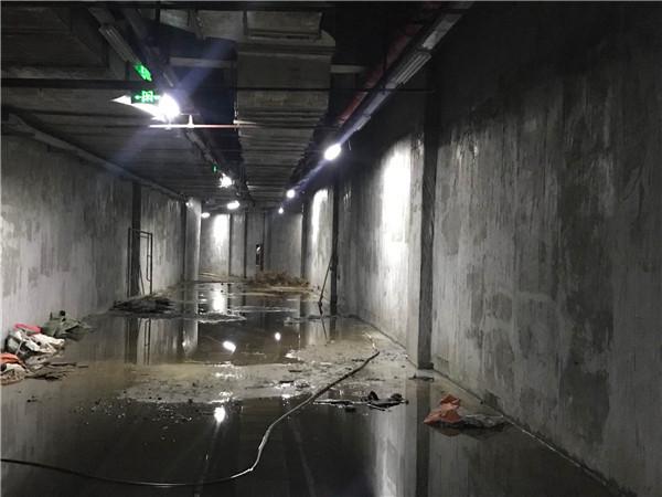 地下室跑道兩側牆面防水